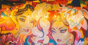 Street Art at Indico Street Kitchen and Bar, Mural